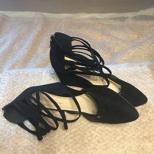 NEW...BCBGeneration black multi straps shoes